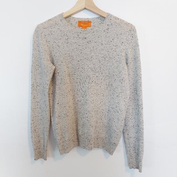 100% Cashmere Salt and Pepper Sweater